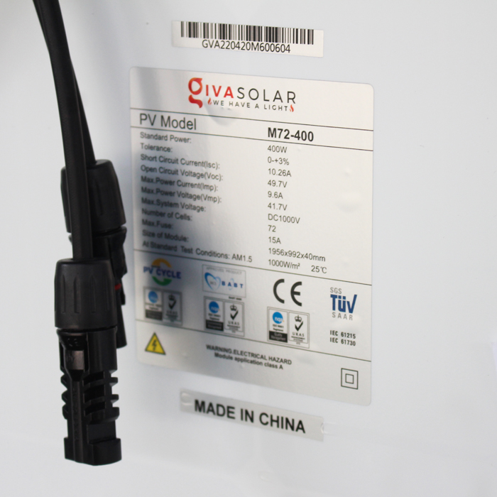Tấm pin năng lượng mặt trời đơn tinh thể công suất lớn 400W 9