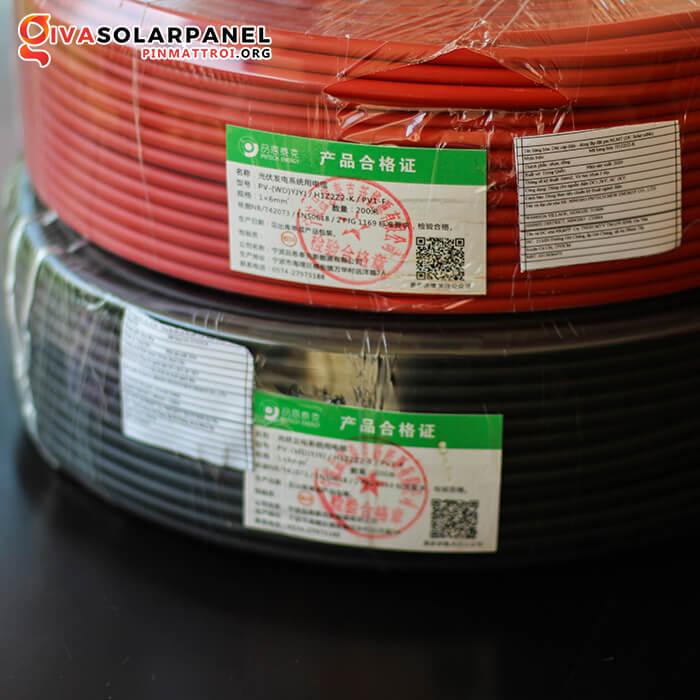 Dây cáp điện solar DC 6mm2 H1z2z2-K / PV1-F 4