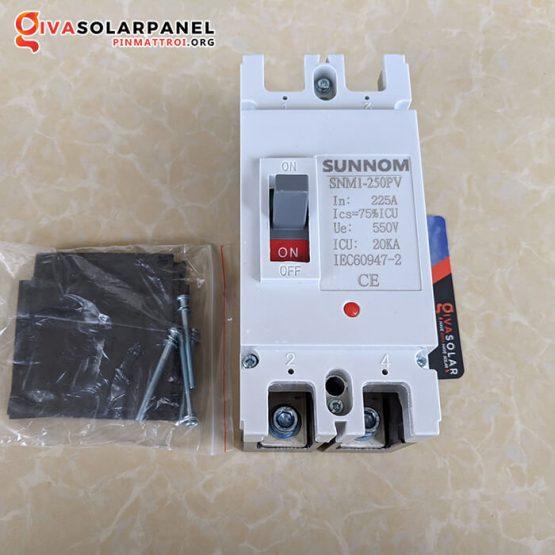 MCCB 2P 225A 550VDC SUNNOM