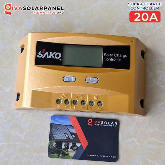 Bộ điều khiển sạc pin năng lượng mặt trời SAKO SCD 20A