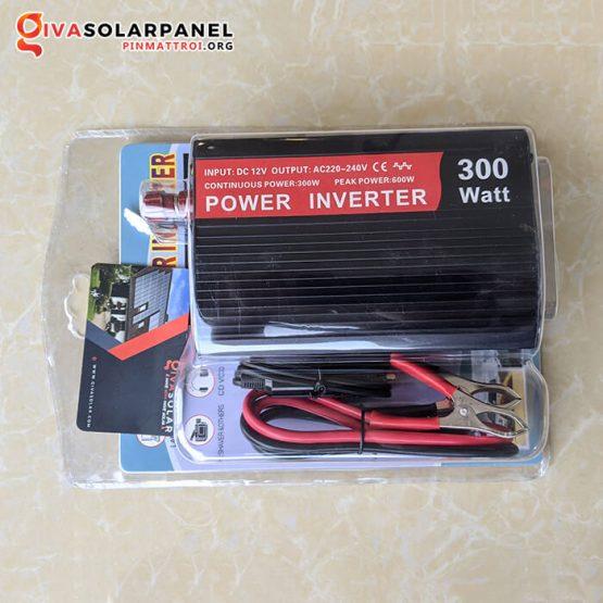 Bộ kích điện mini sạc pin năng lượng mặt trời 12V 300W