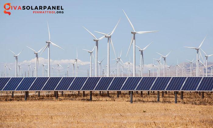 năng lượng mặt trời kết hợp với năng lượng gió