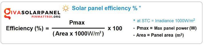 Hiệu suất của tấm pin năng lượng mặt trời 2