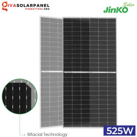 Tấm pin Bifacial (2 mặt) Jinko Tiger Pro 525W | JKM525M-72HL4-TV